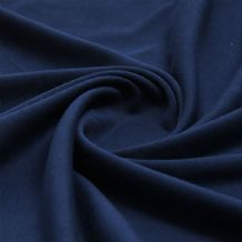 Navy - Plain 100% Cotton Interlock Double Jersey